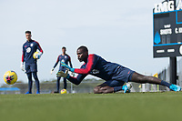Bill Hamid of the United States makes the save