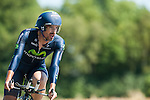 SITTARD, NETHERLANDS - AUGUST 16: Juan Jose Cobo Acebo of Spain riding for Movistar competes during stage 5 of the Eneco Tour 2013, a 13km individual time trial from Sittard to Geleen, on August 16, 2013 in Sittard, Netherlands. (Photo by Dirk Markgraf/www.265-images.com)