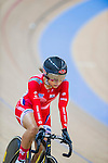 Cyclist in action during the UCI Track Cycling World Cup at the Hong Kong Velodrome in Hong Kong, China on January 15, 2016. Photo by Victor Fraile / Power Sport Images