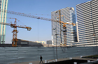 Building continues unabated in Astana, the capitol of Kazakstan.<br />