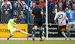 Jak Alnwick saves with his foot