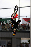 Adam Jones competes during the Moto X Freestyle finals during X-Games 12 in Los Angeles, California on August 6, 2006.