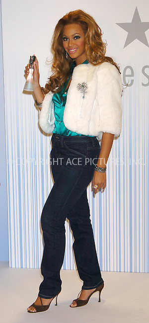 WWW.ACEPIXS.COM . . . . .  ....NEW YORK, OCTOBER 22, 2004....Singing sensation Beyonce Knowles of Destiny's Child introduces the new Tommy Hilfiger fragrance True Stars at Macy's Herald Square.....Please byline: AJ Sokalner - ACE PICTURES..... *** ***..Ace Pictures, Inc:  ..Alecsey Boldeskul (646) 267-6913 ..Philip Vaughan (646) 769-0430..e-mail: info@acepixs.com..web: http://www.acepixs.com