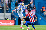 Willian Jose da Silva (l) of Real Sociedad fights for the ball with Yannick Ferreira Carrasco of Atletico de Madrid during their La Liga match between Atletico de Madrid vs Real Sociedad at the Vicente Calderon Stadium on 04 April 2017 in Madrid, Spain. Photo by Diego Gonzalez Souto / Power Sport Images