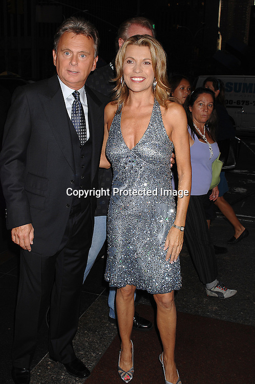 """Pat Sajak and Vanna White..at The 25th Anniversary party for """"Wheel of Fortune"""" ..on September 27, 2007 at Radio City Music Hall, where they will tape 3  weeks of shows.....photo by Robin Platzer, Twin Images....212-935-0770"""