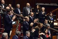 Roma, 31 Gennaio 2015<br /> Camera dei Deputati.<br /> Mariarosaria Rossi<br /> Alla quarta votazione viene eletto Sergio Mattarella a Presidente della Repubblica. <br /> Applausia da Forza Italia per l'elezione.