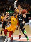 10.10.2018, ratiopharm arena, Neu-Ulm, GER, EC, rathiopharm ulm vs Galatasaray Istanbul, im Bild Nigel Hayes (Istanbul, #7), Isaac Fotu (Ulm, #42), G&ouml;ksenin / Goeksenin K&ouml;ksal / Koeksal (Istanbul, #61), Per G&uuml;nther / Guenther (Ulm, #6)<br /> <br /> Foto &copy; nordphoto / Hafner