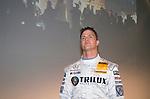 DTM Duesseldorf 2009<br /> Vorstellung und Eroeffnung<br /> <br /> Ralf Schumacher waehrend der Vorstellung in Duesseldorf vor der Leinwand.<br /> <br /> Foto © nph (nordphoto)