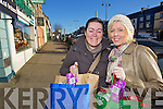 Getting all the Christmas shopping in Castleisland on Thursday were Mairead Galvin and AIleen Galvin, Tralee.