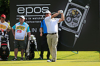 Paul McGinley (IRL) on the 11th tee during Round 3 of the Maybank Malaysian Open at the Kuala Lumpur Golf & Country Club on Saturday 7th February 2015.<br /> Picture:  Thos Caffrey / www.golffile.ie
