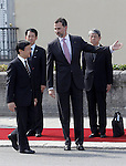 Prince Felipe of Spain receives to the Imperial Highness the Crown Prince of Japan Hiro-no-miya Naruhito Shinno.June 10,2013. (ALTERPHOTOS/Acero)