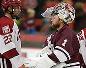David Valek (Harvard - 22), Alex Evin (Colgate - 1) - The Harvard University Crimson defeated the visiting Colgate University Raiders 4-2 on Saturday, November 12, 2011, at Bright Hockey Center in Cambridge, Massachusetts.