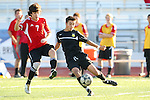 Palos Verdes, CA 02/03/12 - unidentified Peninsula player(s) in action during the Peninsula vs Palos Verdes boys varsity soccer game.