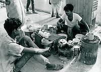 Teeverkauf in Kalkutta, Indien 1974