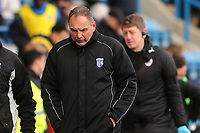 Gillingham Manager, Steve Lovell, walks towards the dressing room at half-time during Gillingham vs Barnsley, Sky Bet EFL League 1 Football at The Medway Priestfield Stadium on 9th February 2019