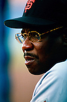 San Francisco Giants Manager Dusty Baker during a game at Dodger Stadium in Los Angeles, California during the 1997 season.(Larry Goren/Four Seam Images)