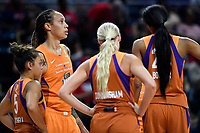 Washington, DC - July 30, 2019: Phoenix Mercury center Brittney Griner (42) during a timeout of game between the Phoenix Mercury and the Washington Mystics at the Entertainment & Sports Arena in Washington, DC. The Mystics defeated the Mercury 99-93. (Photo by Phil Peters/Media Images International)