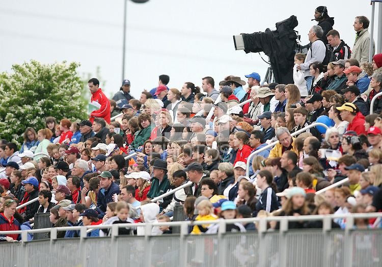Part of the largest crowd to date watches the Washington Freedom play St. Louis Athletica during a WPS match at the Maryland Soccerplex on May 3, 2009 in Boyds Maryland. The game ended in a 3-3 tie.