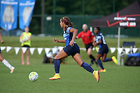 Kansas City, MO - Saturday July 16, 2016: Frances Silva during a regular season National Women's Soccer League (NWSL) match between FC Kansas City and the Washington Spirit at Swope Soccer Village.