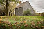 Fall foliage at the Hoxie House, Sandwich, Cape Cod, MA, USA