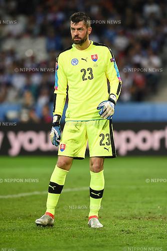 Matus Kozacik (Slovakia) ; <br /> June 15, 2016 - Football : Uefa Euro France 2016, Group B, Russia 1-2 Slovakia at Stade Pierre Mauroy, Lille Metropole, France.; ;(Photo by aicfoto/AFLO)