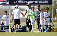 Dallas, TX - October 19, 2019: U.S. Soccer Development Academy Boys' U-13 Fall Central Regional Showcase at MoneyGram Soccer Park.