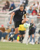 Abby Wambach of the Washington Freedom brings down a high pass during a WPS pre season match against Sky Blue F.C. at Maryland Soccerplex,in Boyd's, Maryland on March 14 2009. Sky Blue won the match 1-0