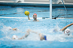 qINDIANAPOLIS, IN - MAY 14: Gabby Stone (1) Stanford University looks to pass during the Division I Women's Water Polo Championship held at the IU Natatorium-IUPUI Campus on May 14, 2017 in Indianapolis, Indiana. Stanford edges UCLA, 8-7, to win fifth women's water polo title in the past seven years. (Photo by Joe Robbins/NCAA Photos/NCAA Photos via Getty Images)