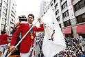 Kosuke Hagino (JPN), OCTOBER 7, 2016 : Japanese medalists of Rio 2016 Olympic and Paralympic Games wave to spectators during a parade from Ginza to Nihonbashi, Tokyo, Japan. (Photo by AFLO SPORT)