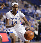 Sophomore guard, Bria Goss during the game against DePaul. The University of Kentucky Women's Basketball team hosted DePaul University Friday, Dec 07, 2012 at Rupp Arena in Lexington. Photo by Kirsten Holliday
