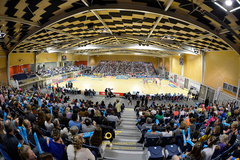 ANZ Championships 2013 Haier Pulse v Queensland Firebirds at Te Rauparaha Arena, Porirua, Wellington, New Zealand on Monday 1 April 2013.<br />