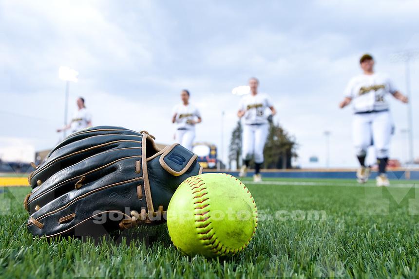 The University of Michigan women's softball team defeats Western Michigan, 8-0, at Alumni Field in Ann Arbor, Mich., on April. 8, 2014.