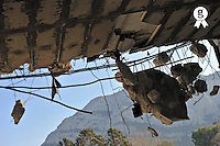 Building ceiling under destruction (Licence this image exclusively with Getty: http://www.gettyimages.com/detail/101227251 )