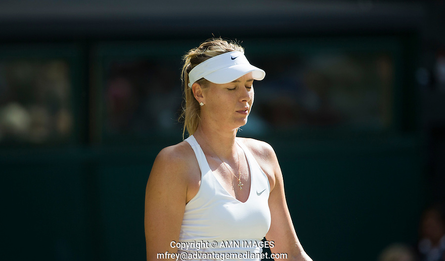 MARIA SHARAPOVA (RUS)<br /> <br /> TENNIS - THE CHAMPIONSHIPS - WIMBLEDON 2015 -  LONDON - ENGLAND - UNITED KINGDOM - ATP, WTA, ITF <br /> <br /> &copy; AMN IMAGES23