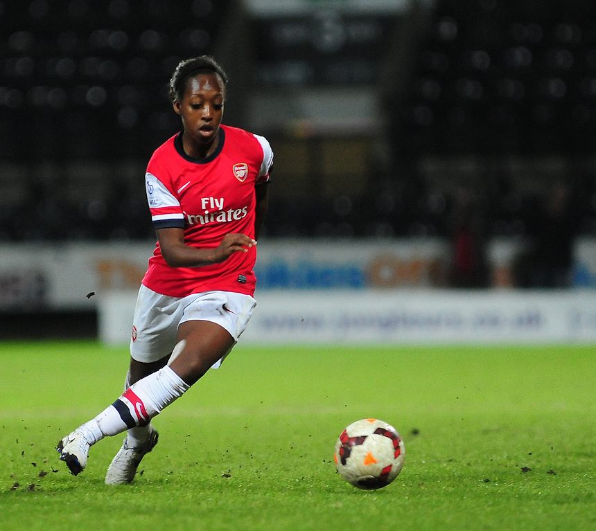 Arsenal Ladies' Danielle Carter <br /> <br /> Photo by Chris Vaughan/CameraSport<br /> <br /> Women's Football - FA Women&rsquo;s Super League 1 - Notts County Ladies v Arsenal Ladies - Wednesday 16th April 2014 - Meadow Lane - Nottingham<br /> <br /> &copy; CameraSport - 43 Linden Ave. Countesthorpe. Leicester. England. LE8 5PG - Tel: +44 (0) 116 277 4147 - admin@camerasport.com - www.camerasport.com
