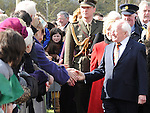 President of Ireland Michael D Higgins meeting people at the launch of National Tree week in Ardee. Photo: Colin Bell/pressphotos.ie