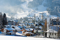 Austria, Tyrol, Kitzbuehel: international ski resort