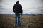 Former Montana Governor Brian Schweitzer checks on  some of his horses on one of his ranches near Ovando, Montana, May 7, 2014.<br /> CREDIT: Max Whittaker/Prime for The Wall Street Journal<br /> BRIAN