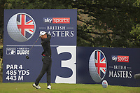 Joakim Lagergren (SWE) on the 3rd tee during Round 2 of the Sky Sports British Masters at Walton Heath Golf Club in Tadworth, Surrey, England on Friday 12th Oct 2018.<br /> Picture:  Thos Caffrey | Golffile<br /> <br /> All photo usage must carry mandatory copyright credit (&copy; Golffile | Thos Caffrey)