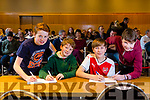 Scoil Mhuire, Killorglin, Eoghan Joy, Eoin Lynch, Cillian Spillane, Ciaran O'Sullivan at the Chapter 23 Credit Union Table Quiz at Ballyroe Heights Hotel on Sunday