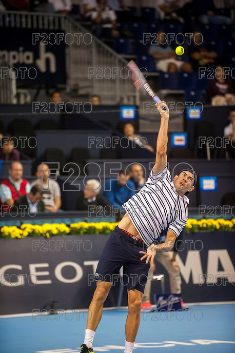 VALENCIA, SPAIN - OCTOBER 27: Guillermo Garcia Lopez during Valencia Open Tennis 2015 on October 27, 2015 in Valencia , Spain