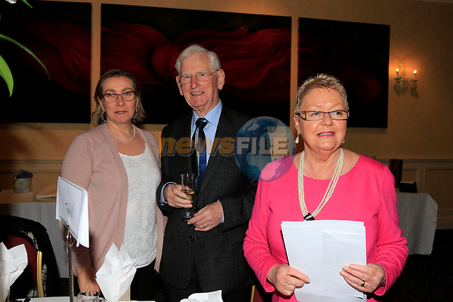 Elaine Hanrahan, Peter McQuillan and Betty Quinn Old Drogheda Society 50 years celebrate <br /> Picture: www.newsfile.ie