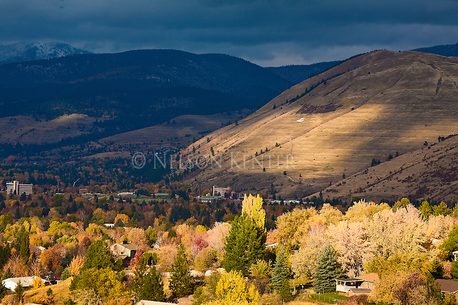 The Missoula, Montana valley and Mount Jumbo