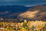 The Missoula, Montana valley and Mount Jumbo