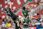 Stedman-Ghee Gans of South Africa catches the ball during the match South Africa vs New Zealand, Day 2 of the HSBC Singapore Rugby Sevens as part of the World Rugby HSBC World Rugby Sevens Series 2016-17 at the National Stadium on 16 April 2017 in Singapore. Photo by Victor Fraile / Power Sport Images