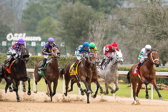 February 17, 2020:Silver Prospector (2) with jockey Ricardo Santana Jr. aboard during the Southwest Stakes at Oaklawn Racing Casino Resort in Hot Springs, Arkansas on February 17, 2020. Ted McClenning//Eclipse Sportswire/CSM