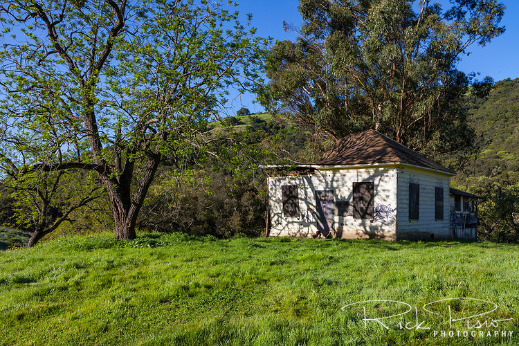 An abandoned ranch house now sits within the boundaries of Morgan Territory Regional Preserve in California's eastern Contra Costa County.