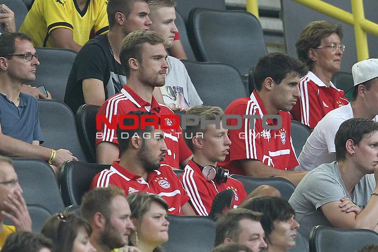 27.07.2013, Signal Iduna Park, Dortmund, GER, 1. FBL, SuperCup, Borussia Dortmund vs FC Bayern M&uuml;nchen, im Bild<br /> Jan Kirchhoff (Muenchen #15), Mitchell Weiser (Muenchen #23), Emre Can (Muenchen #36) und Javi Martinez (Muenchen #8)<br /> <br /> Foto &copy; nph / Mueller