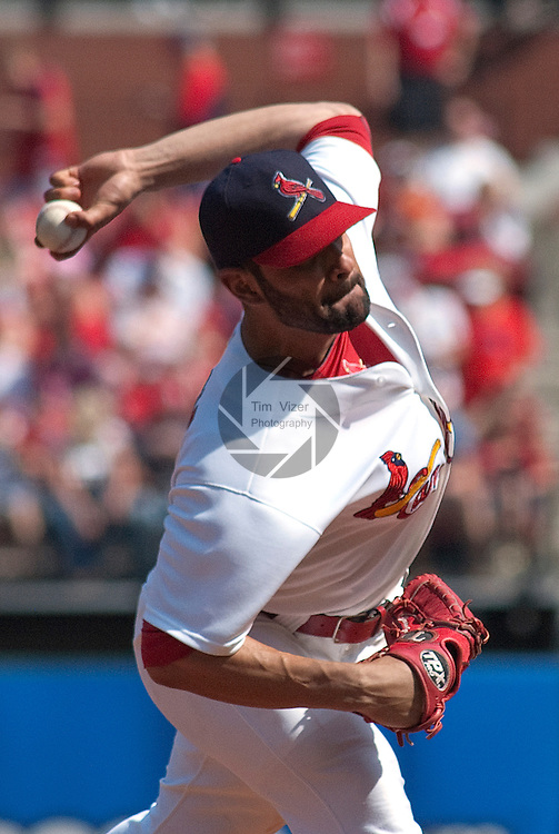 April 3,  2011                           St. Louis Cardinals starting pitcher Jaime Garcia (54) winds up to pitch. The St. Louis Cardinals defeated the San Diego Padres 2-0 in the final game of a three-game series on Sunday April 3, 2011 at Busch Stadium in downtown St. Louis.