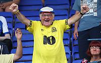 Blackburn Rovers Fans at the start of todays match<br /> <br /> Photographer Rachel Holborn/CameraSport<br /> <br /> The EFL Sky Bet Championship - Ipswich Town v Blackburn Rovers - Saturday 4th August 2018 - Portman Road - Ipswich<br /> <br /> World Copyright &copy; 2018 CameraSport. All rights reserved. 43 Linden Ave. Countesthorpe. Leicester. England. LE8 5PG - Tel: +44 (0) 116 277 4147 - admin@camerasport.com - www.camerasport.com